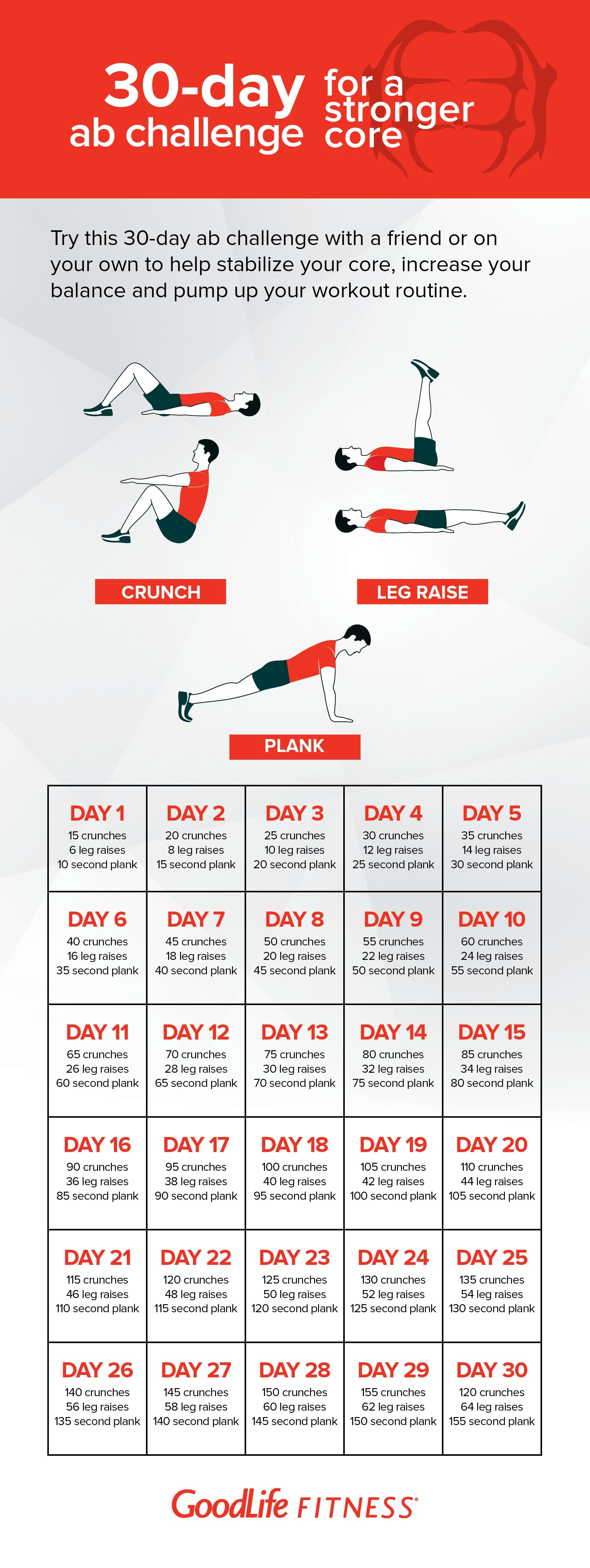 It is an image of Playful 30 Day Ab Challenge Printable